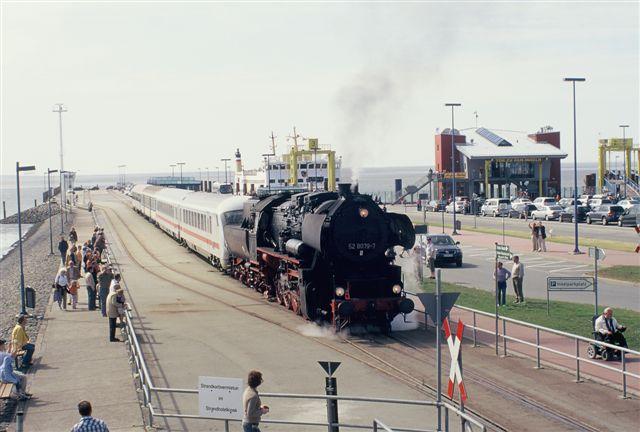 Dagebüll Dampflok BR 52.80 IC Steuerwagen Mole Fähre