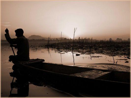Dal Lake in Srinagar Kashmir