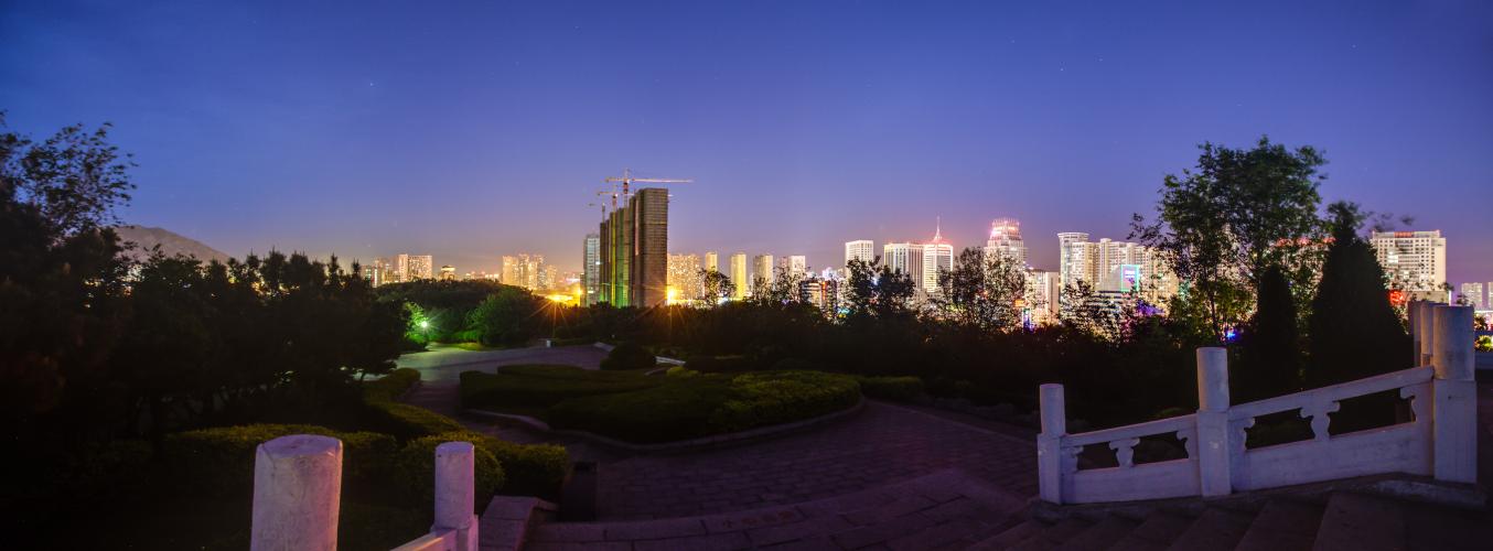 Dalian - Nacht Panorama