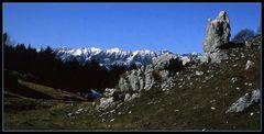 Dalla Lessinia sguardo sul Monte Baldo..