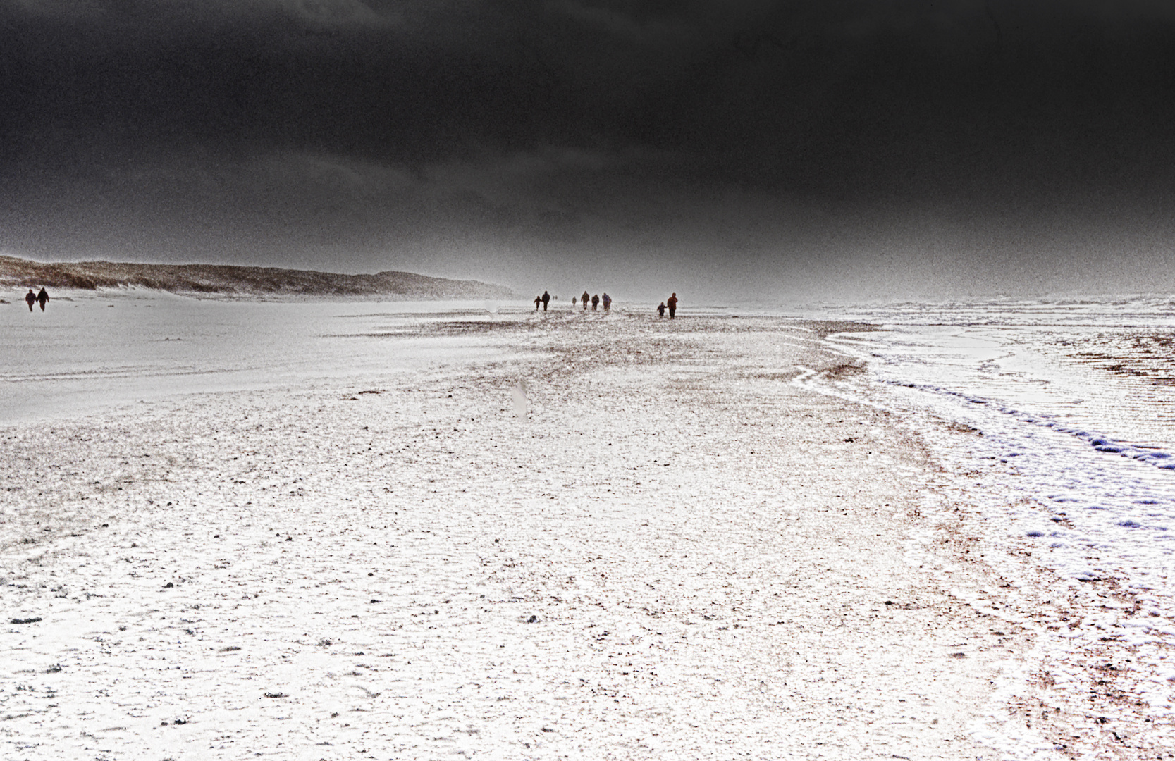 damals - am strand in dänemark ...