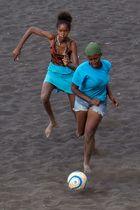 Damenfußball auf Santiago