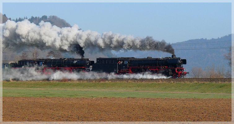 Dampf auf der Schwarzwaldbahn