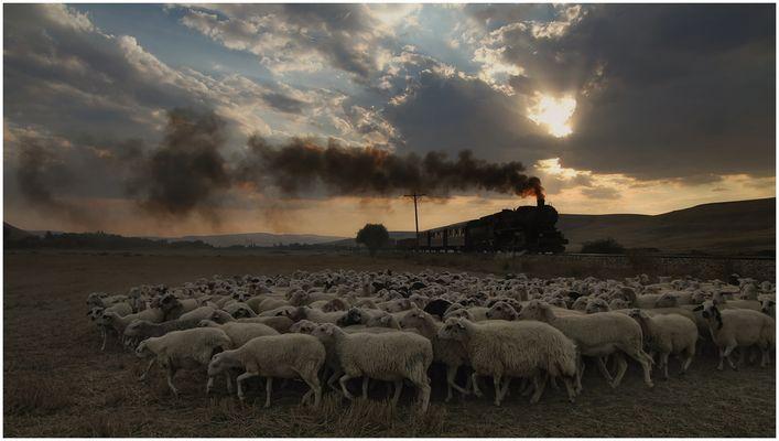 Dampf durch die Westtürkei