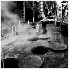 Dampf in Manhattan