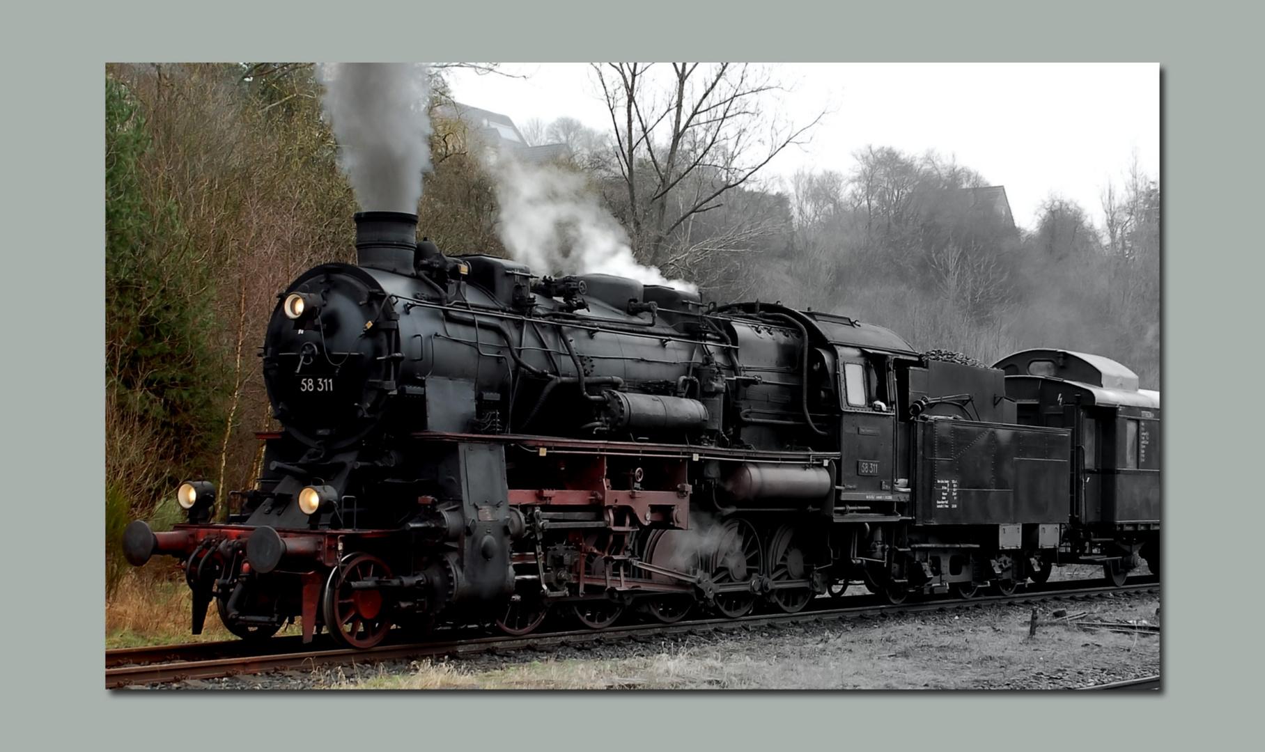 Dampf-Lokomotive....