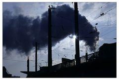 Dampf überm Hauptbahnhof
