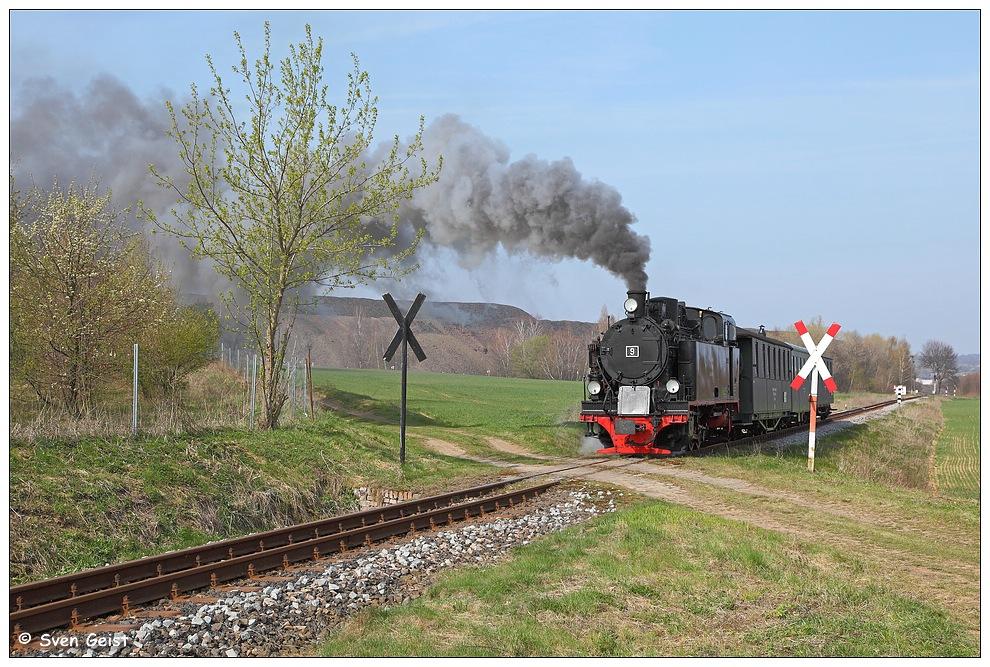 Dampfend hinter Hettstedt