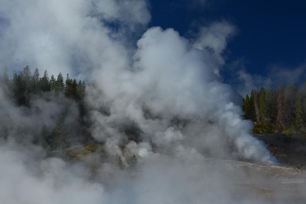 Dampfende Erde