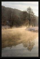 Dampfender Fluss