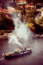Dampfer auf der Moldau