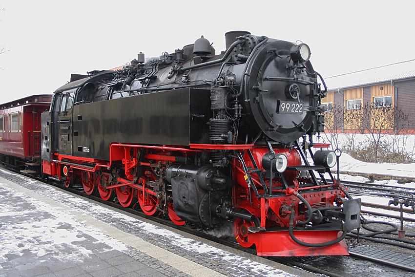 Dampflok 99 222 der Harzer Schmalspurbahnen