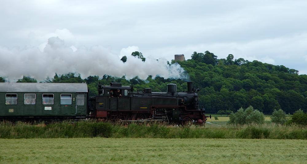 Dampflok am Teutoburger Wald