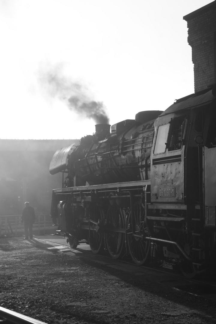 Dampflok-Atmosphäre im BW Hilbersdorf