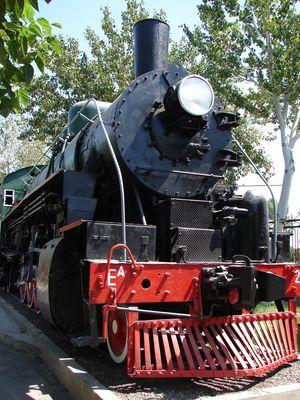 Dampflok im Eisenbahn Museum Taschkent
