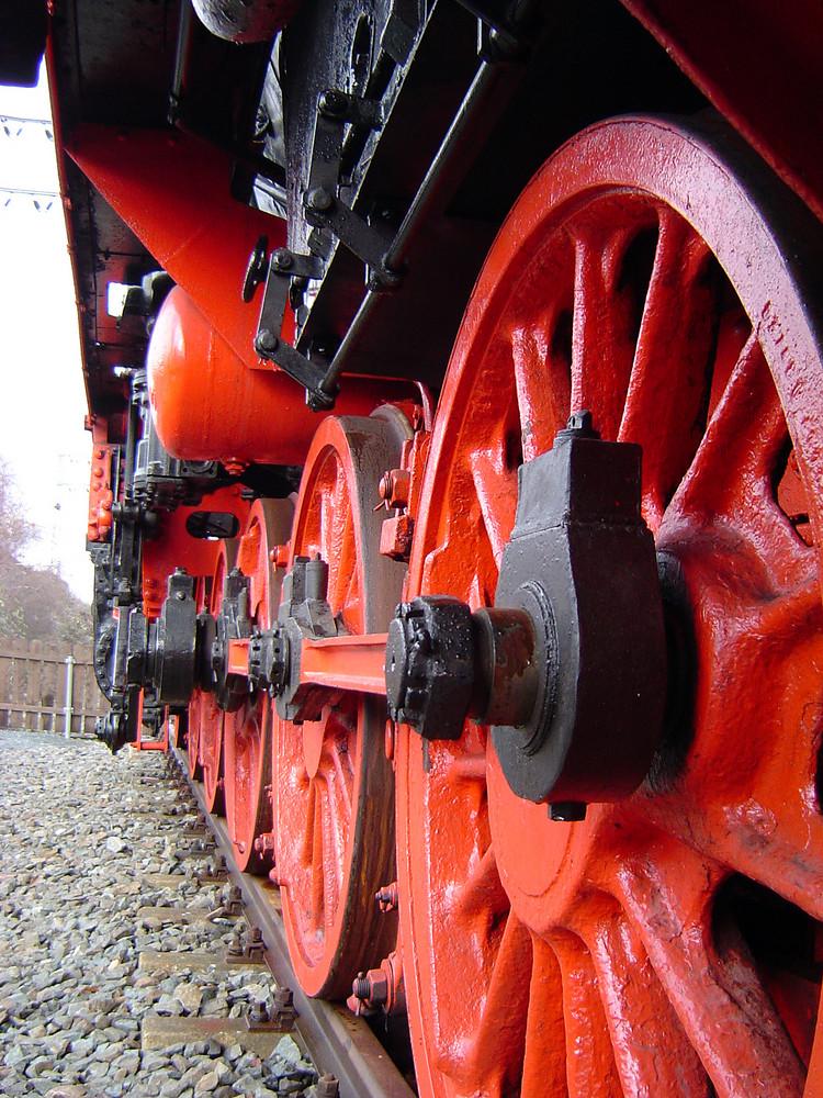 Dampflok in Lehrte im Detail