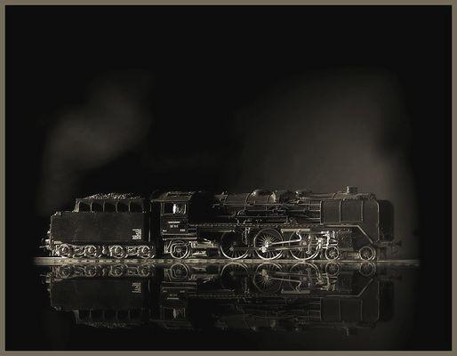 Dampflok-Modell