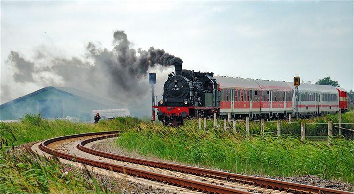 Dampflok von Dagebüll nach Niebüll