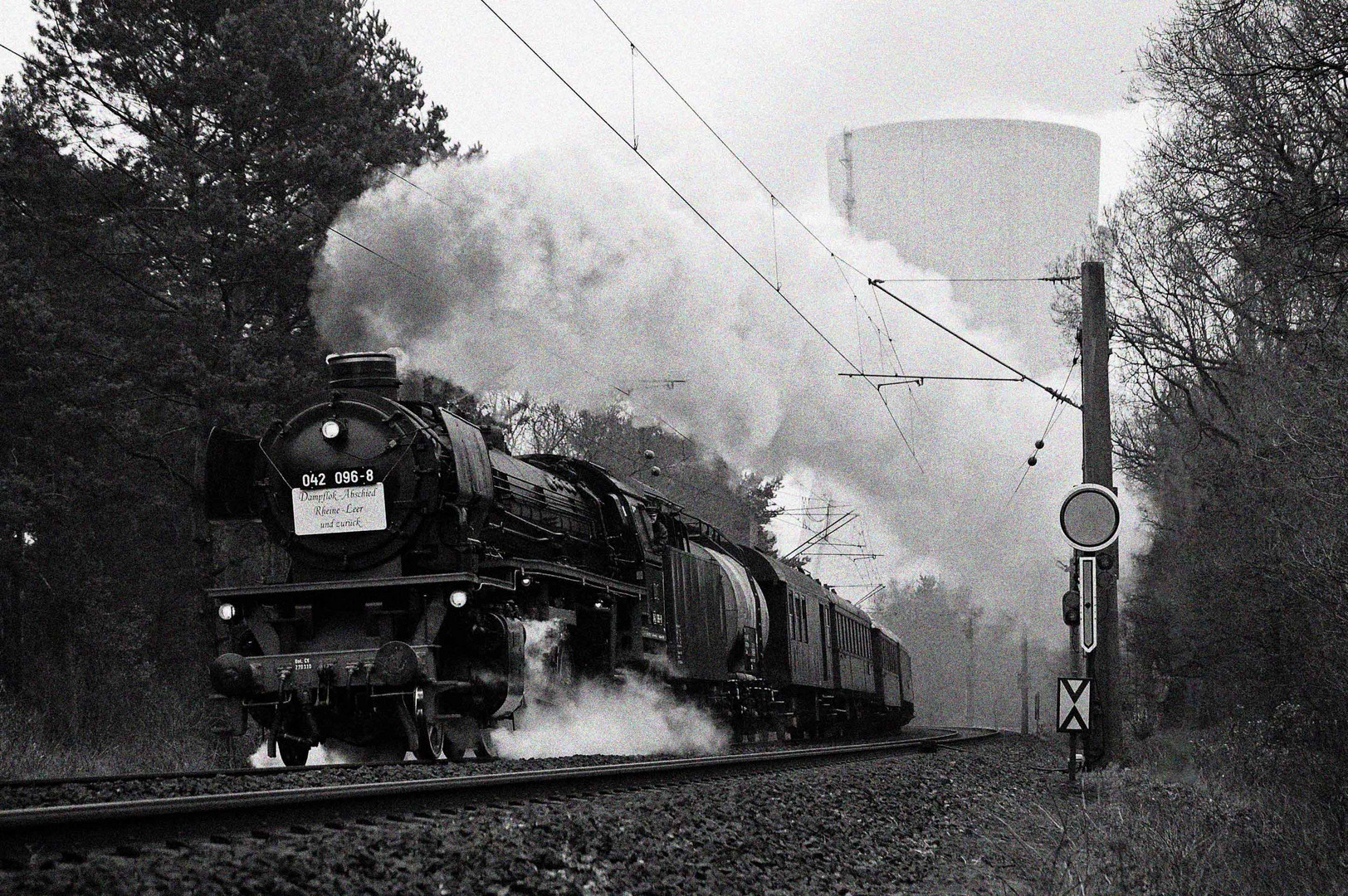Dampflokabschied 1977 auf der Emslandstrecke...