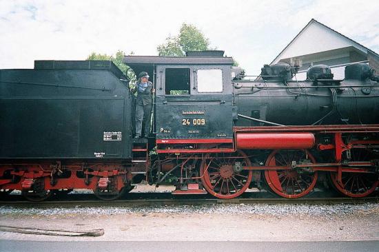 Dampflokomotive Frau Lokführerin