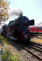 Dampflokomotive in Fahrt