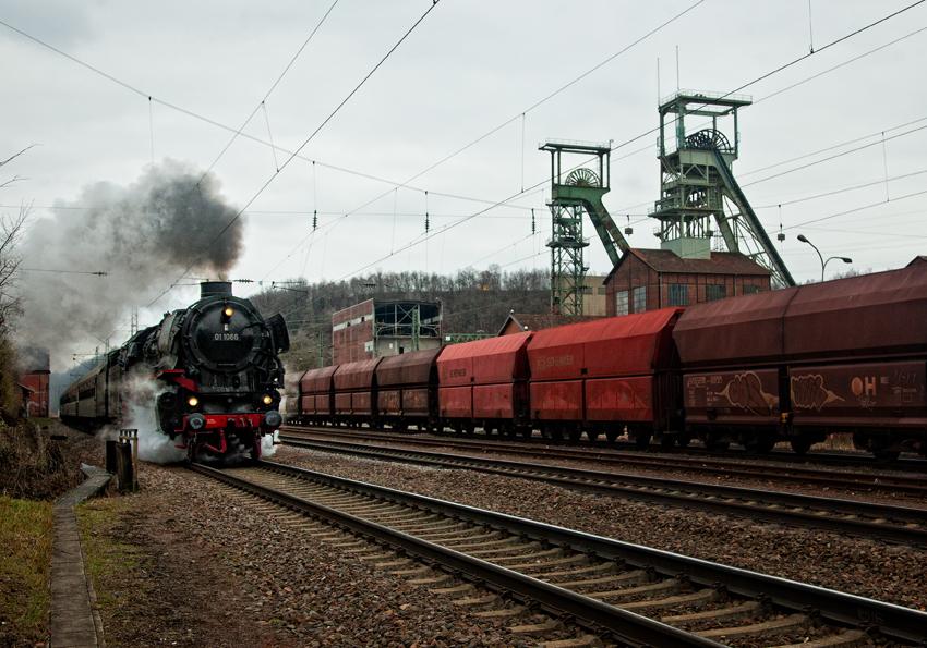 Dampflokomotive in Luisenthal