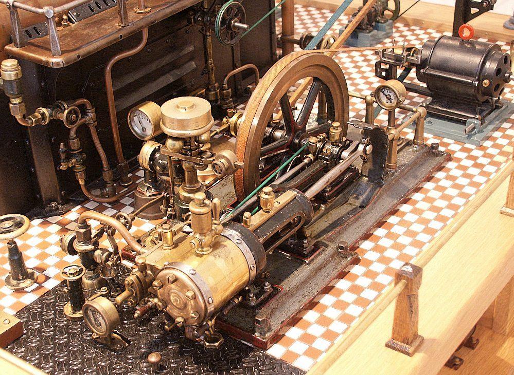 Dampfmaschine im Detail