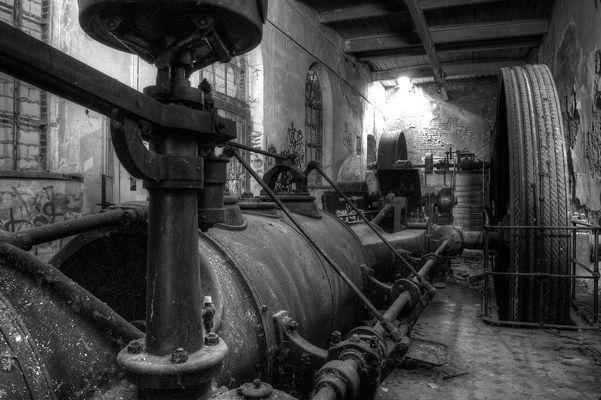 Dampfmaschine Spinnerei J