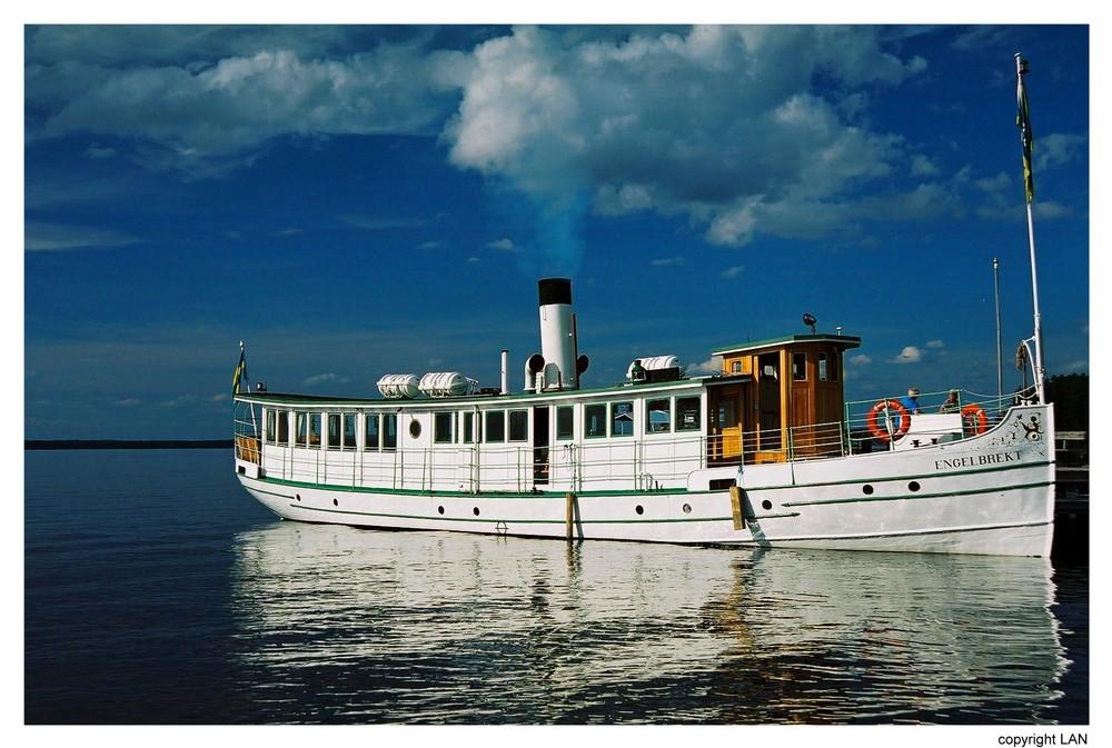 Dampfschiff auf den Siljansee