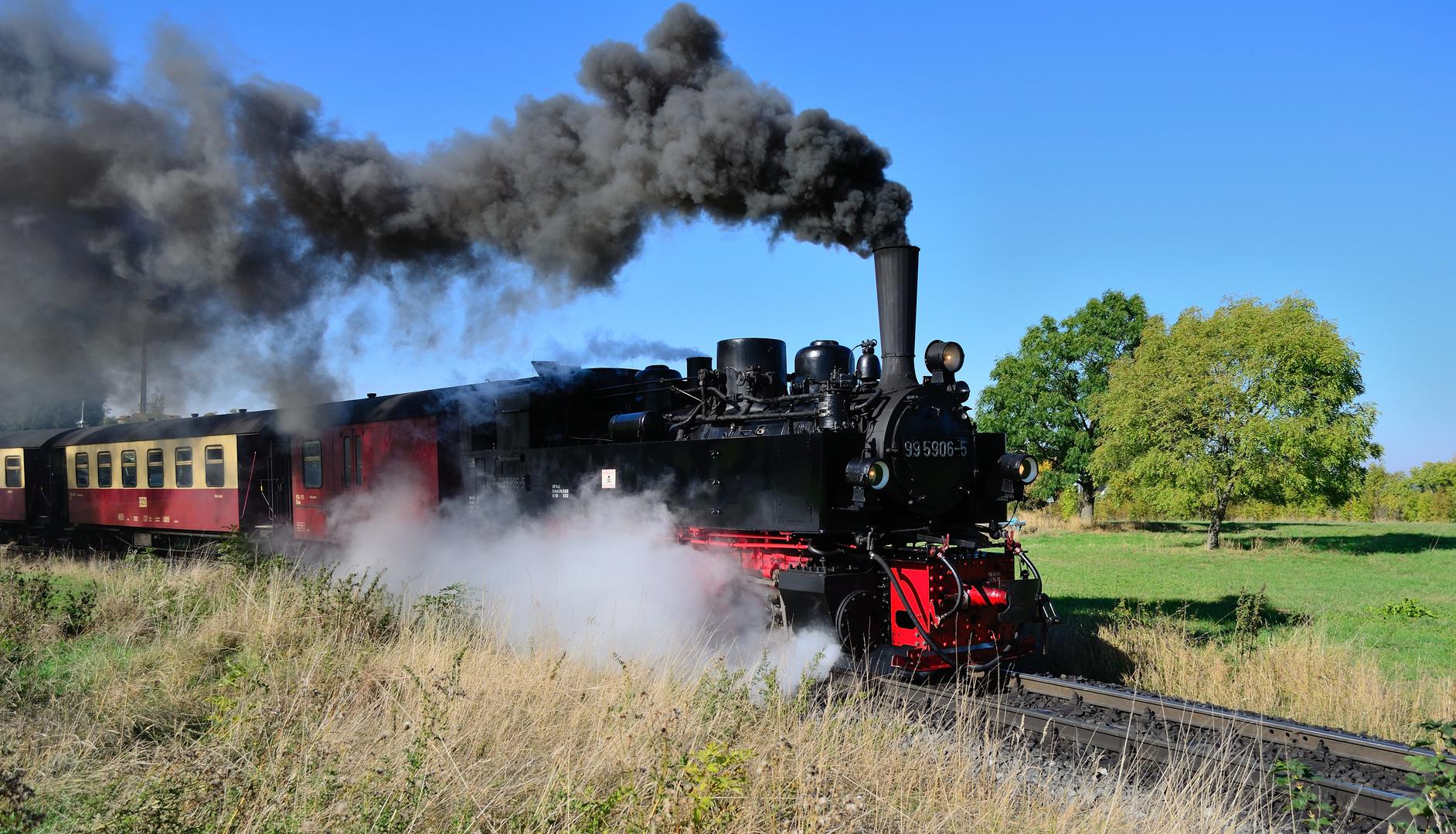 Dampfzug Selketalbahn (1), Oktober 2013