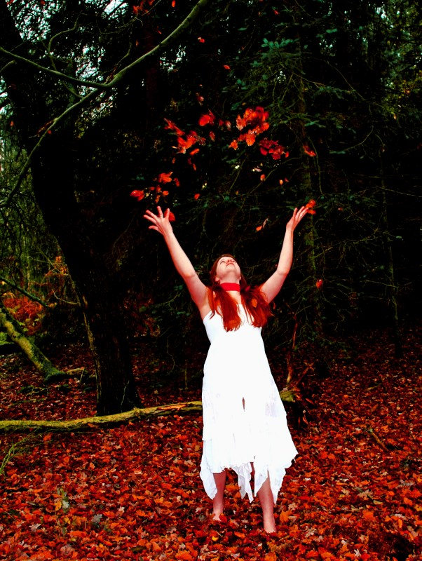 Dancing with leaves