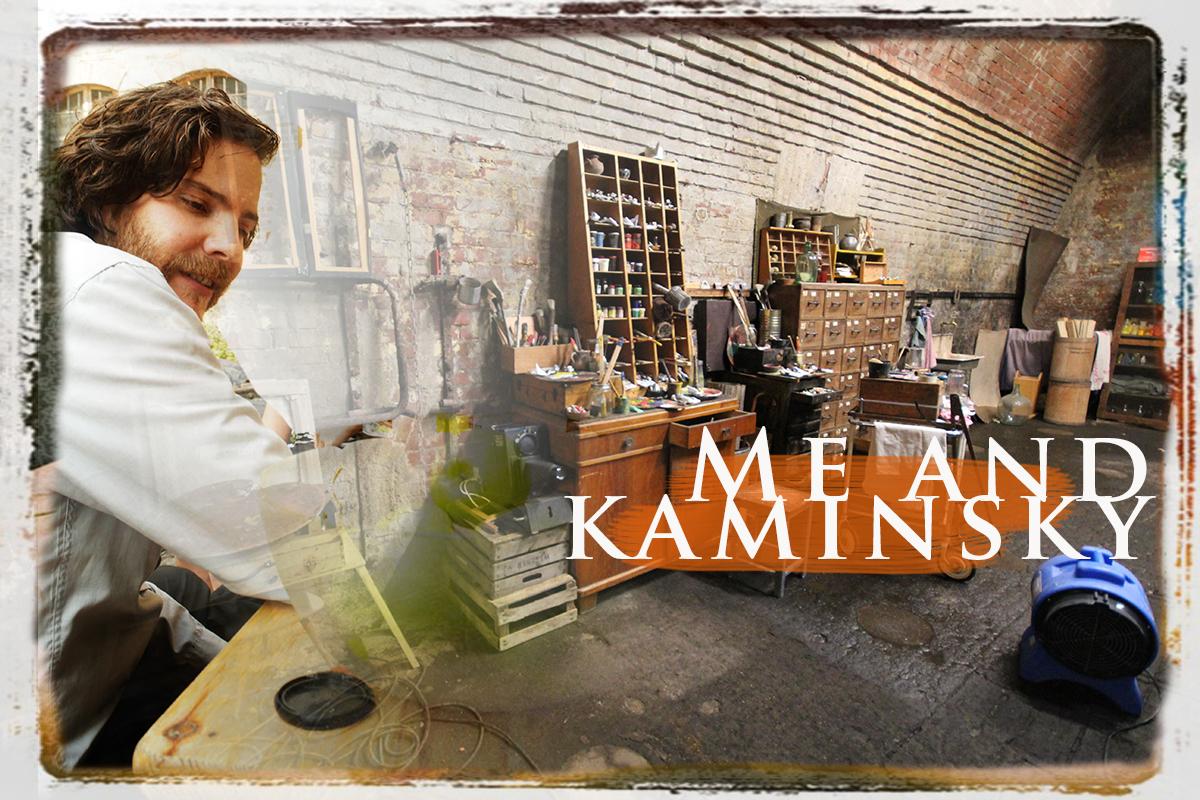 Daniel Brühl in Collage bei Dreharbeiten zu dem Kinofilm Me and Kaminsky