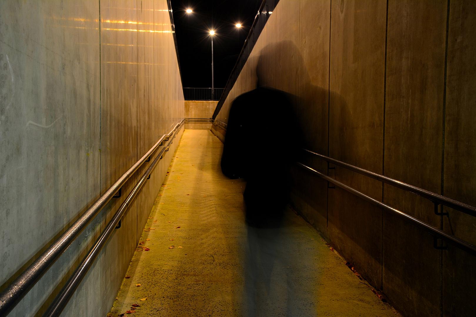 Dans les couloir de la gare