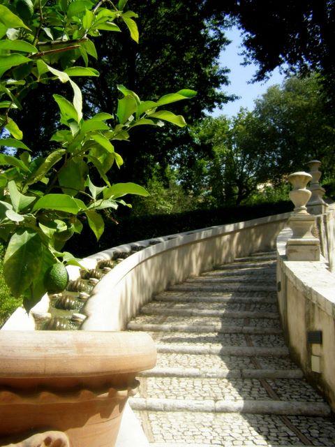 Dans les jardins de la Villa d'Este (Tivoli - Italie)