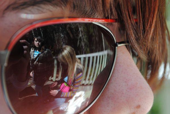 Dans les lunettes