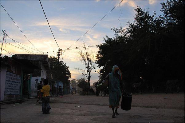 Dans les rues de Khajuraho