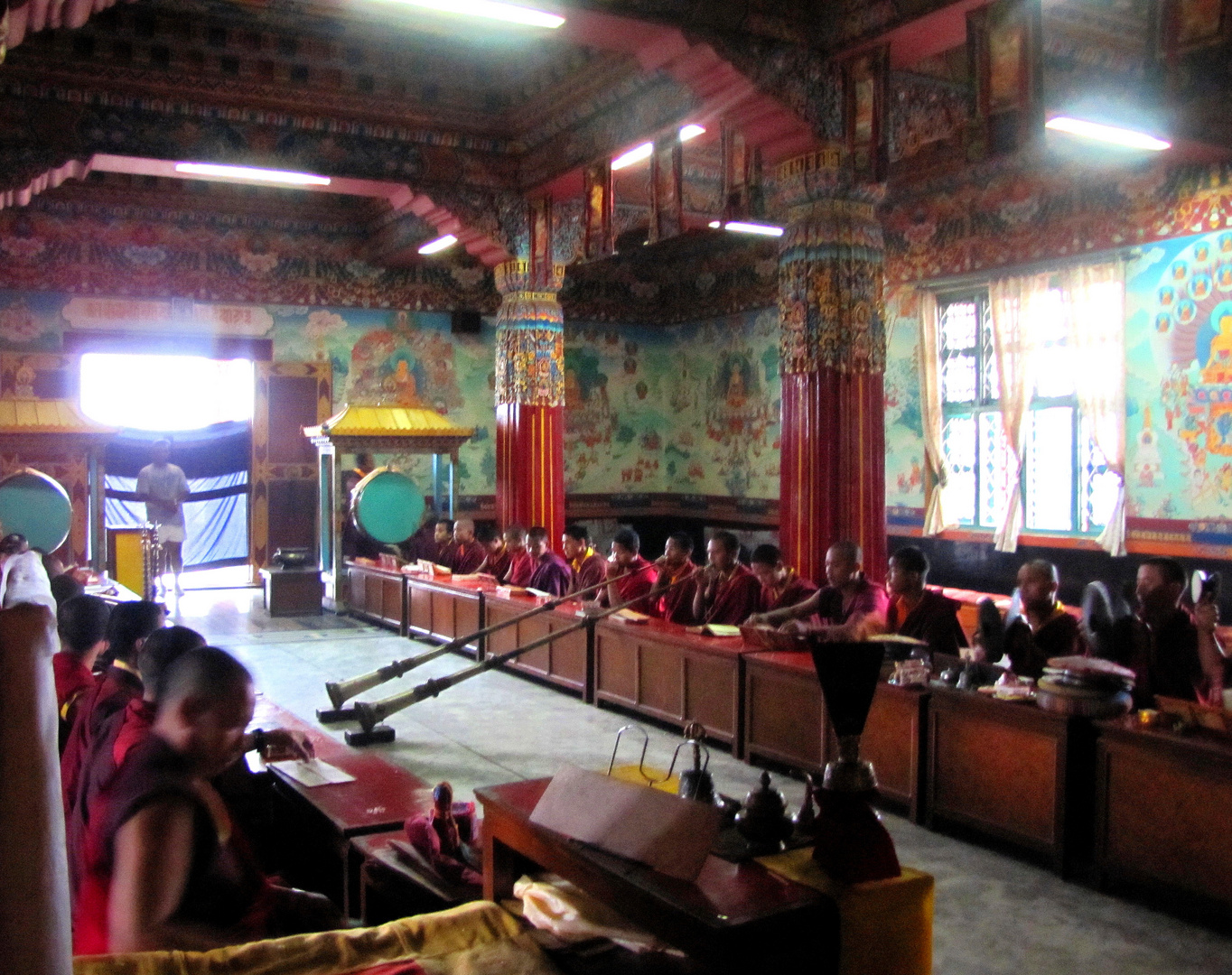 Dans un temple bouddhiste du Népal...