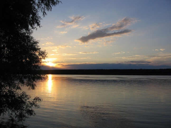 Danube river - Evening sun