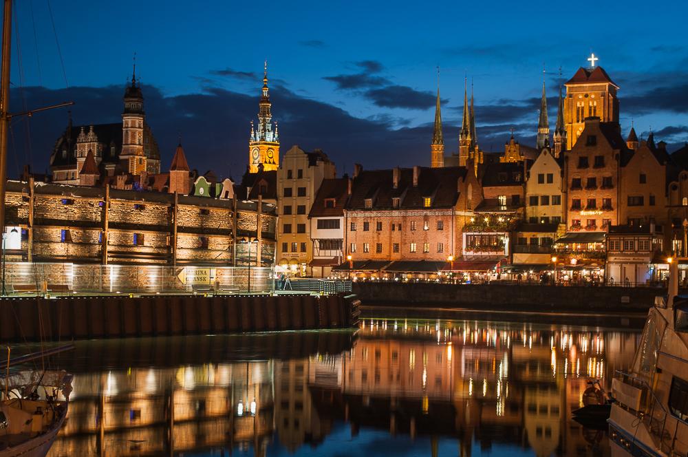 Danziger Altstadt bei Nacht