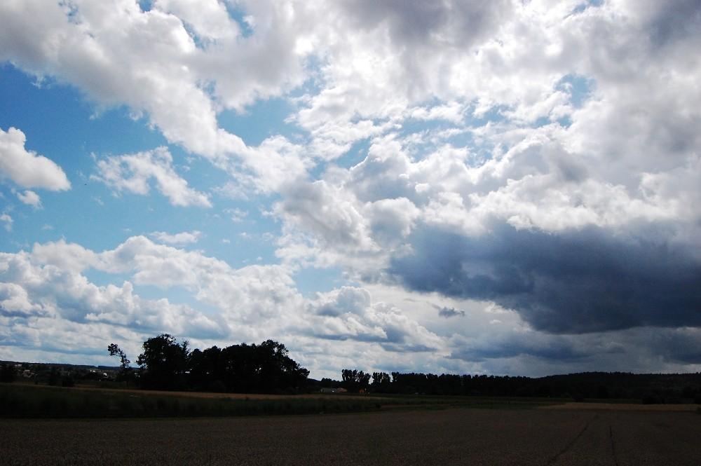 dark clouds in a perfect sky