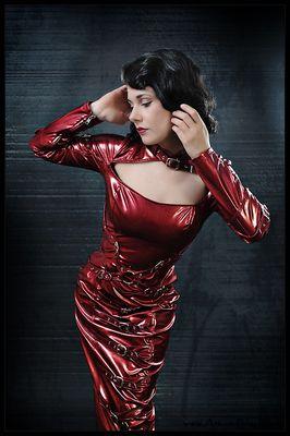 Dark Red Dita
