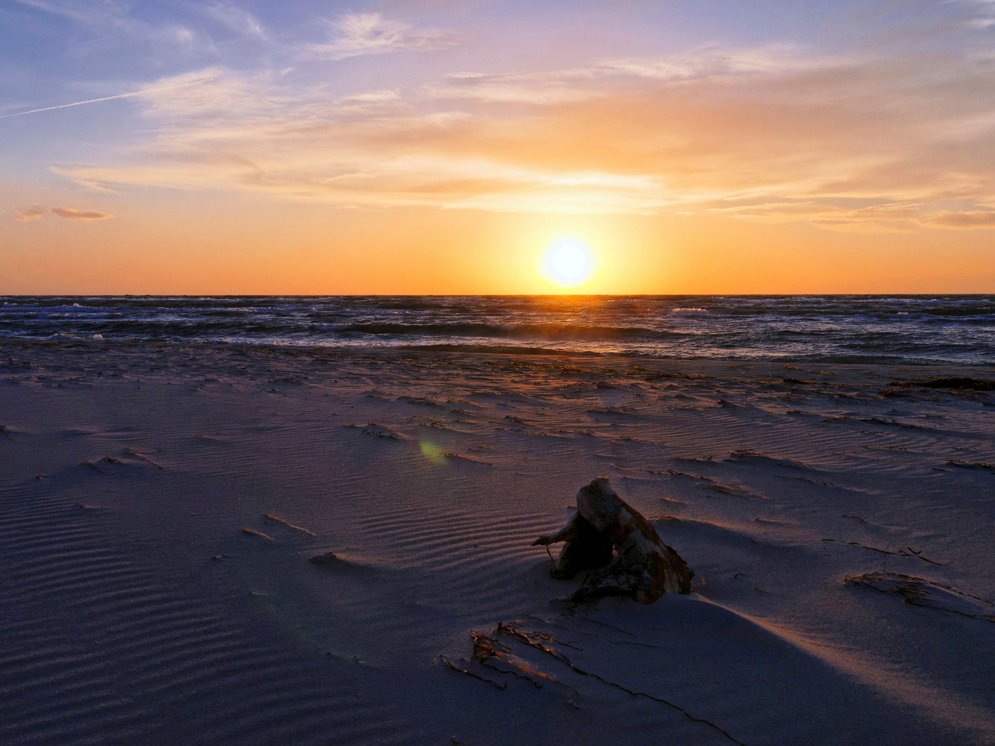 Darßer Ort - Sonnenuntergang am Weststrand