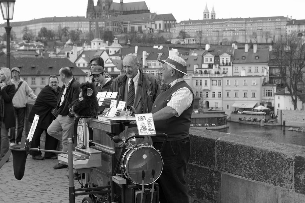 Darsteller auf der Karlsbrücke in Prag