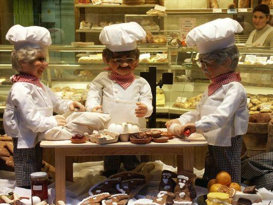 Darstellung der Plätzchenbäckerei