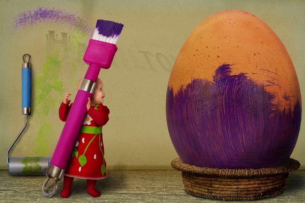 Das 1. Ei ist fast fertig