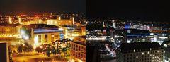 Das abendliche Dresden 2005 und 2015