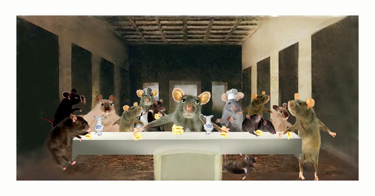 Das Abendmahl der Mäuse, nach Leonardo