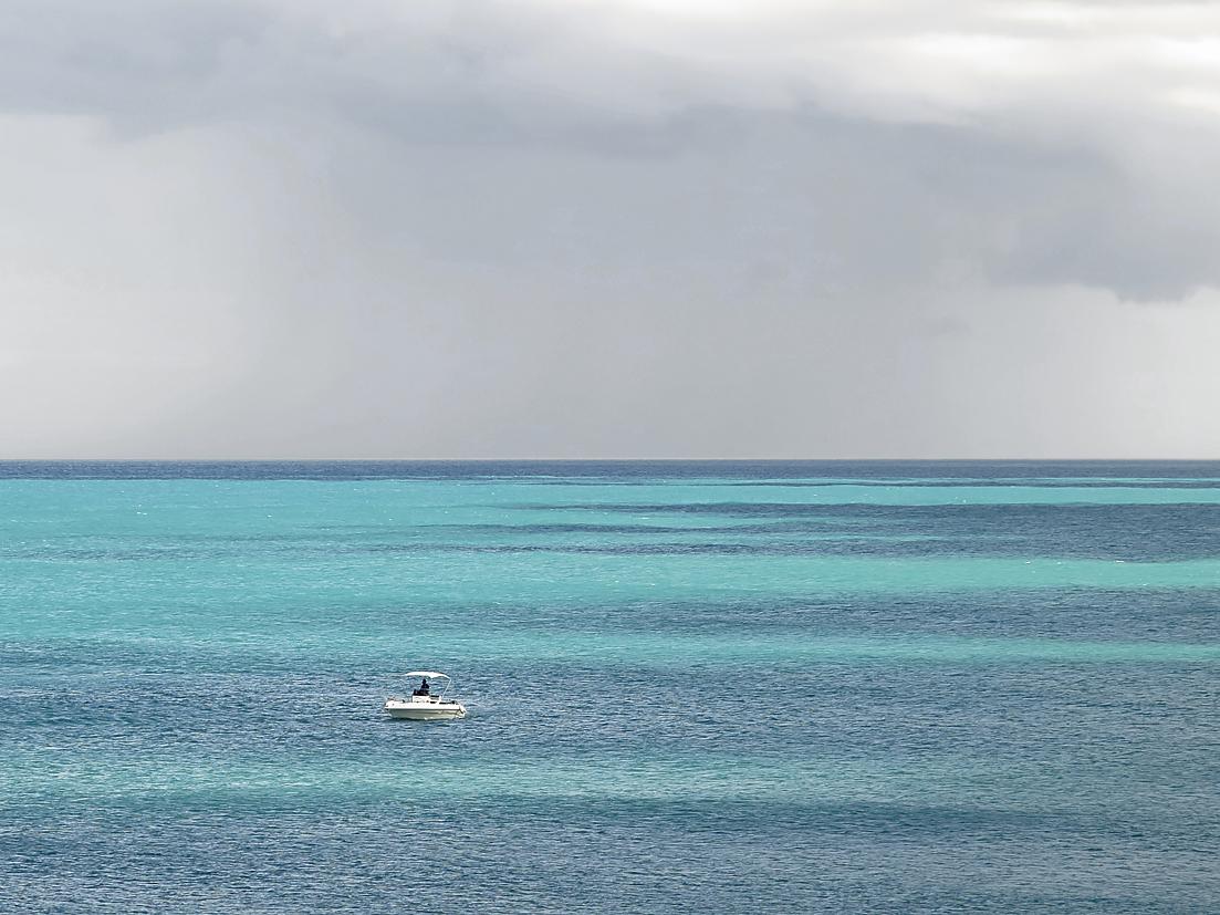 Das 'Afrikanische Meer' in türkis / Il 'mare africano' - turchese