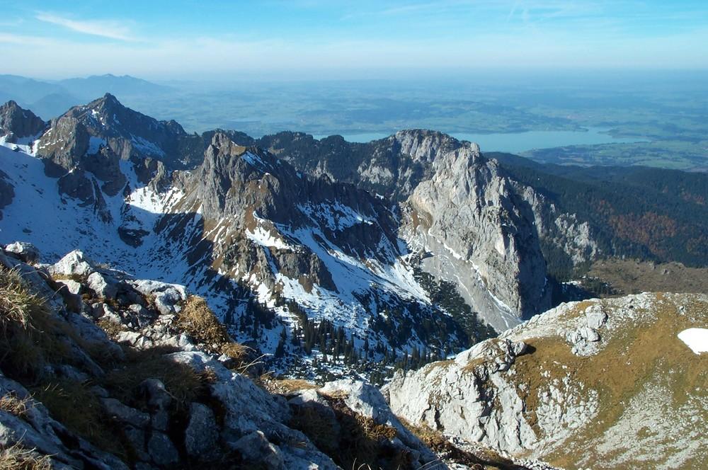 Das Alpenpanorama bei Füssen