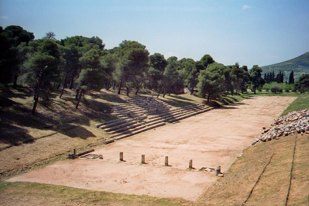 Das antike Stadion von Epidaurus ( Epidavros) -Griechenland